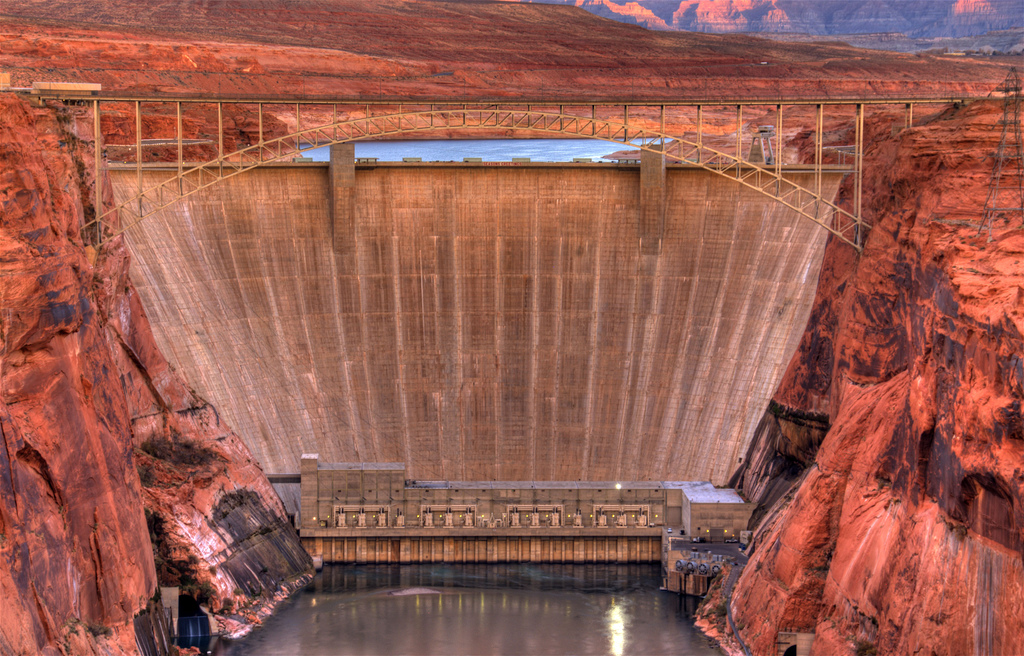 Glen Canyon Bridge & Dam, Page, Arizona